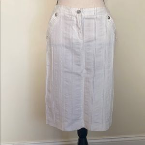 NWT Versus Versace Ivory Pencil Skirt Size 26/40